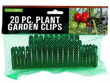 HW847 Garden Plant Clips Green, Metallic