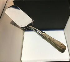 """KIRK REPOUSSE HOLLOW HANDLE  STERLING SPATULA ~ 11 1/4"""""""