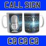 HAM AMATEUR RADIO PRINTED WITH MIC & CALL SIGN is calling CQ CQ CQ