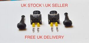 2 x Genuine AMP/TYCO 2 Way Pin Junior Power Timer Terminals Boot and Cable Seals