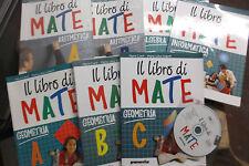 """LOTTO COMPLETO """"IL LIBRO DI MATE"""" INTERO PROGRAMMA MATEMATICA x MEDIE - PARAVIA"""