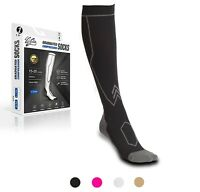 Compression Socks Pair Travel Sports Running Cycling Calf Pain Relief Shin Foot
