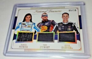 Patrick Stewart Harvick 2016 National Treasures Triple Race Used Patches #d 9/10