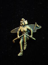 """JJ"" Jonette Jewelry Bronze Pewter 'I Hate this Game of GOLF' Tac Pin"