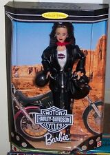 Mnrfb Collector Quality Mattel Brunette Harley Davidson Barbie #3 1999