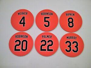 Baltimore Orioles Fridge Magnets - Cal Ripken, Jim Palmer, Eddie Murray, Weaver