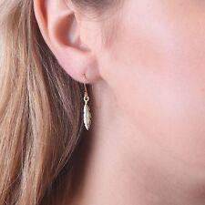Feather Earrings Dangle Earrings BOHO Earrings 14K Gold Filled