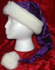 Purple Crushed Velvet Santa Hat
