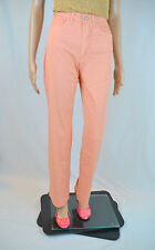 VERSACE Women's New Pink Casual Cotton High Waist Vtg Trousers Pants sz 27 AT27