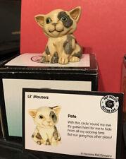 Harmony Kingdom / Ball Pot Bellys 'Pete' Cat, Retired New In Box Nib