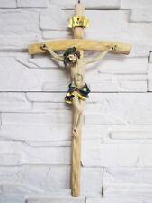 Jesus cross Wood 45 cm to Hang up Jesus Wall cross Poly Inri New