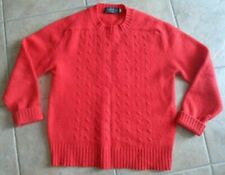 Windsor House 100% wool sweater red vtg cable Sherwood Forest Nottingham England