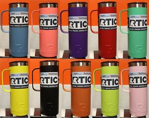 RTIC 20oz Travel Coffee Cup Assorted Colors Vacuum Thermos Mug Insulated NEW