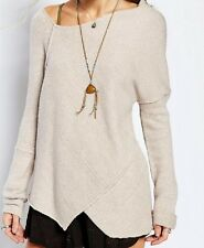 Free People NEW Love and harmony Pullover Sweater Top Oatmeal  NWT  L