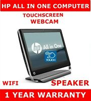 HP i3 TouchSmart All in One Computer Pc Touchscreen ssd Dell Mouse Webcam Win 10