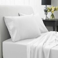 NEW LUXURY 100% EGYPTIAN COTTON FLAT SHEETS 200 THREAD COUNT SINGLE DOUBLE KING