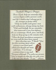 FOOTBALL Prayers GOAL Skill TEAM Sports TOUCHDOWN Goal KICK verses poems plaques