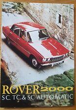 Rover 2000 SC TC Automatic Saloon Mk II 1970  Vintage Ad Gallery Postcard Mint