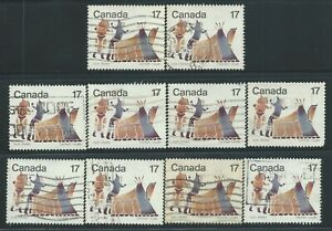 Canada #835(1) 1979 17 cent  INUIT- SHELTER & COMMUNITY - SUMMER TENT 10 Used