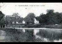 LA FERTE-ALAIS (91) KIOSQUE en PAILLOTE au CANAL du CHATEAU DE VILLIERS