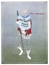 PUBLICITE CARON PARFUM POUDRE ET SOUS POUDRE CREME DE 1952 FRENCH AD ADVERT PUB