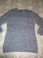 river island blue/grey cotton mix jumper size m/medium