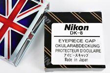 BNIB GENUINE NIKON DK-8 CIRCULAR VIEW FINDER COVER FOR 22mm F3HP F4 F5 D3 D4 ++
