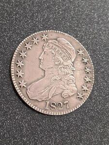 1827 Philadelphia Mint Silver Capped Bust Half Dollar Square 2 Ch XF-AU