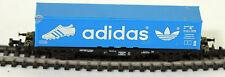 """Trix Spur N Flachwagen mit Containerladung """"Adidas"""" der DB 1240014 (PH 2277)"""
