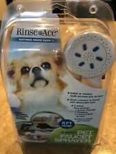 Rinse Ace 3-Way Pet Faucet Sprayer with 8 foot Hose New in Pkg.