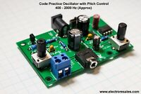 HAM MORSE CODE/TELEGRAPH CW  PRACTICE OSCILLATOR - WITH PITCH CONTROL