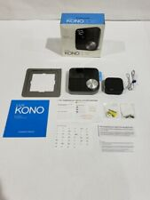 Lux Kono Smart Wi-Fi Thermostat w/Black Stainless Steel Faceplate KN-S-MG1-B04 *