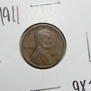 1911 US Wheat Penny Lincoln Cent Coin (Exact Coin)