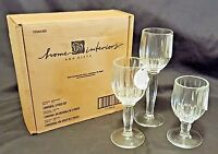 Set of 3 Home Interiors Tiered Fluted Clear Glass Stemmed Candle Holders ~ New
