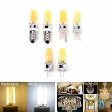 Dimmable G4 G9 E14 Mini 9W COB SMD LED Silicone Crystal Light Lamp Bulb 220V FA