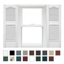 Mid America Open Louver Vinyl Shutters 14.5in. (1 Pair)
