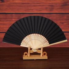 Pattern Folding Dance Wedding Party Lace Silk Folding Hand Held Solid Color Fan