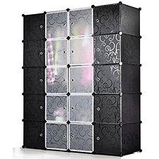 DIY Wardrobe 20 Cube Portable Closet Clothes Rack Storage Organizer Bookcase