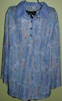 164 ) Toller Blauer Damen Pullover Gr. 50 die Firma ist nicht mehr zu erkennen
