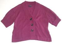 Banana Republic Womens Top Size XL Purple 3/4 Sleeve Shirt Wool Blend Heavy