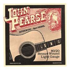 John Pearse 200L Acoustic Strings - 80/20 Bronze, Light Gauge