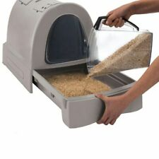 Cat toilet litter box covered toilet Fast Cleaning With Sliding Compartment