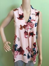 WORTHINGTON Women's Elegant Crepe Pink Blue Green Sleeveless Top X Small XS 0/2