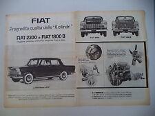advertising Pubblicità 1961 FIAT 2300 e 1800 B
