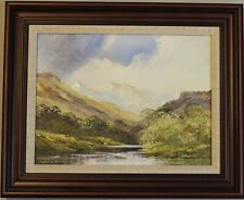 "TERRY EVANS. ""MOUNTAIN SCENE"". ORIGINAL PAINTING"