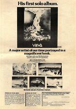 1/11/75PN34 ROGER DEAN- VIEWS ALBUM - POSTERS & BOOK ADVERT 15X10