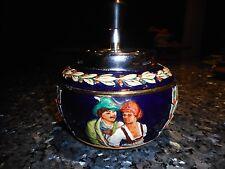 Vintage Gerzit Hand Painted German Plunger Risque Couple Ashtray
