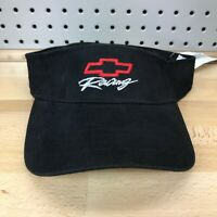 CHEVY Racing Chevrolet Motorsports Bowtie Logo Black Sun Visor NOS with Tags New