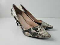 Diana Ferrari Leather Animal Print Classic Pump Court Heel Women's Size US8.5