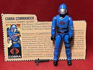 1983 Vintage Gi Joe.................COBRA COMMANDER 100% Complete